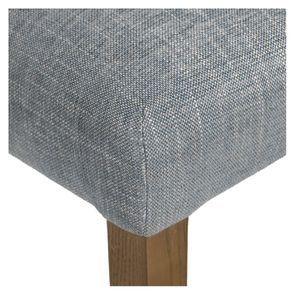 Chaise en tissu bleu chambray et frêne massif - Romane - Visuel n°34