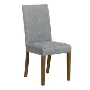Chaise en tissu bleu chambray et frêne massif - Romane - Visuel n°6