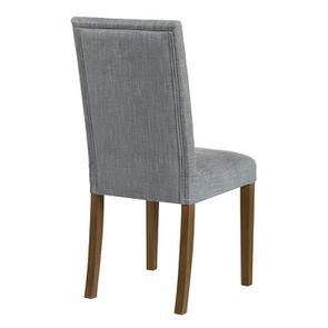 Chaise en tissu bleu chambray et frêne massif - Romane - Visuel n°14