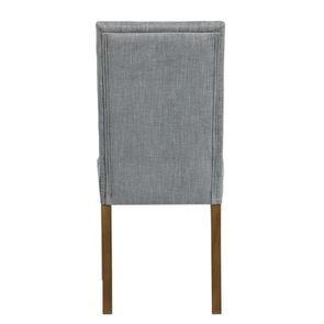 Chaise en tissu bleu chambray et frêne massif - Romane - Visuel n°18