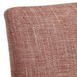 Chaise en tissu orange briqué et frêne massif - Romane - Visuel n°8
