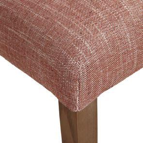 Chaise en tissu orange briqué et frêne massif - Romane - Visuel n°9