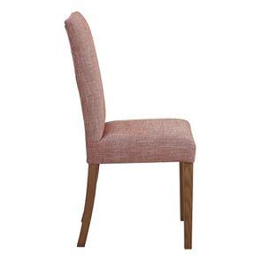 Chaise en tissu orange briqué et frêne massif - Romane - Visuel n°3