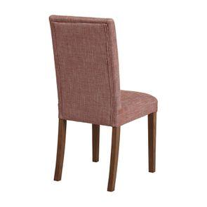 Chaise en tissu orange briqué et frêne massif - Romane - Visuel n°4