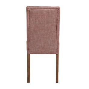 Chaise en tissu orange briqué et frêne massif - Romane - Visuel n°5