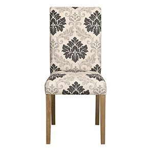 Chaise en tissu beige et frêne massif - Romane - Visuel n°2