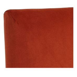 Chaise en tissu velours rouille et frêne massif - Romane - Visuel n°12