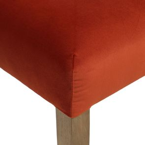 Chaise en tissu velours rouille et frêne massif - Romane - Visuel n°13