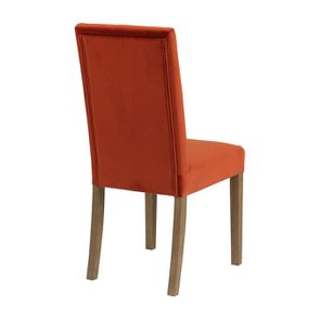 Chaise en tissu velours rouille et frêne massif - Romane - Visuel n°8