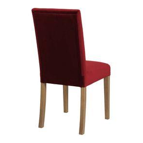 Chaise en frêne massif et tissu velours lie de vin - Romane - Visuel n°3