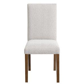 Chaise en tissu flocon et frêne massif - Romane
