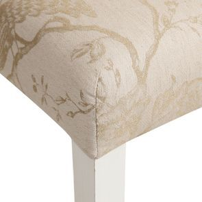 Chaise en tissu paradisier et hévéa massif - Romane - Visuel n°9