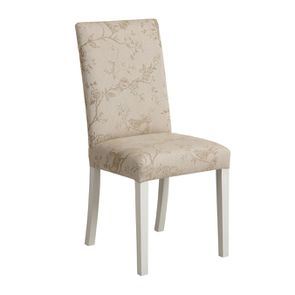 Chaise en tissu paradisier et hévéa massif - Romane - Visuel n°2