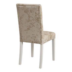 Chaise en tissu paradisier et hévéa massif - Romane - Visuel n°4