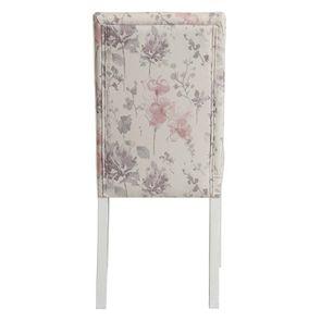 Chaise en hévéa massif et tissu fleurs opaline - Romane - Visuel n°4