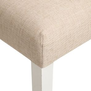 Chaise en tissu ficelle et hévéa massif - Romane - Visuel n°9