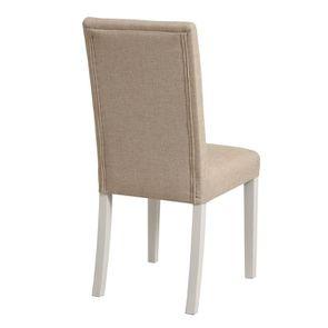 Chaise en tissu ficelle et hévéa massif - Romane - Visuel n°4
