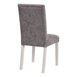 Chaise en hévéa massif et tissu mosaIque indigo - Romane - Visuel n°3