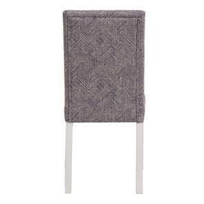 Chaise en hévéa massif et tissu mosaIque indigo - Romane - Visuel n°4