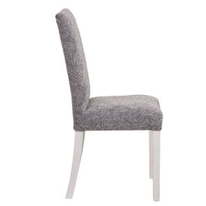 Chaise en hévéa massif et tissu mosaIque indigo - Romane - Visuel n°5