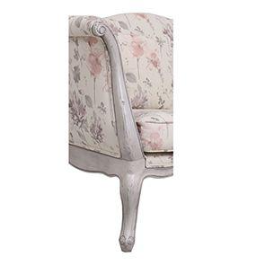 Banquette 2 places en tissu fleurs opalines - Apolline - Visuel n°3