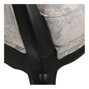 Banquette 2 places en hévéa massif noir et tissu toile de Jouy - Apolline - Visuel n°8