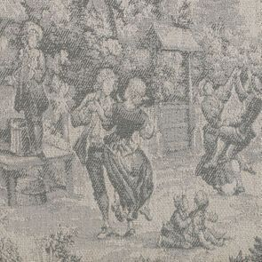 Banquette 2 places en frêne massif et tissu toile de Jouy - Apolline - Visuel n°7