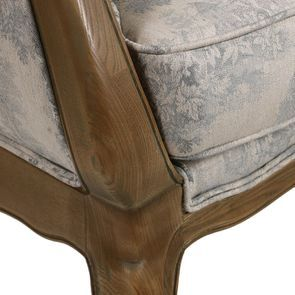 Banquette 2 places en frêne massif et tissu toile de Jouy - Apolline - Visuel n°8