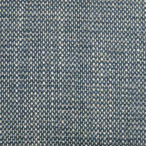 Banquette 2 places en hévéa massif blanc et tissu bleu chambray - Apolline - Visuel n°7
