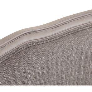 Banquette 3 places en hévéa et tissu gris chambray - Constance - Visuel n°29