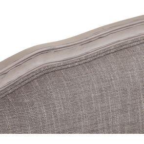 Banquette 3 places en hévéa et tissu gris chambray - Constance - Visuel n°30