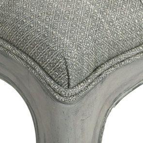 Banc ottoman en hévéa gris argenté et tissu losange gris - Gaspard - Visuel n°8