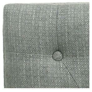 Banc ottoman en hévéa gris argenté et tissu losange gris - Gaspard - Visuel n°9