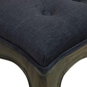Banc ottoman en frêne et tissu gris anthracite - Gaspard - Visuel n°9