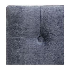 Banc ottoman en hévéa noir et tissu Velours bleu - Gaspard - Visuel n°7