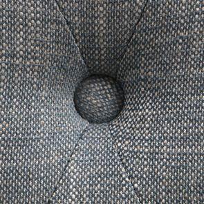 Banc ottoman en hévéa noir et tissu bleu chambray - Gaspard - Visuel n°10