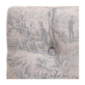 Banc ottoman en frêne tissu toile de Jouy - Gaspard - Visuel n°3