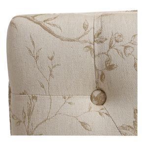 Banc ottoman en hévéa blanc et tissu paradisier - Gaspard - Visuel n°8
