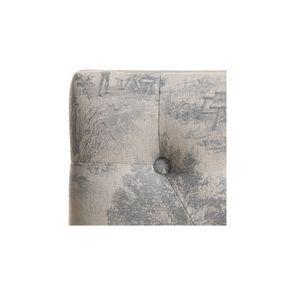 Banc ottoman en hévéa tissu toile de Jouy - Gaspard - Visuel n°8