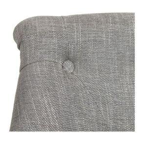 Fauteuil crapaud en hévéa gris argenté et tissu gris - Bastien