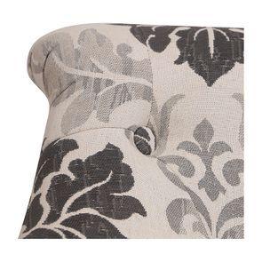 Fauteuil crapaud en tissu arabesque - Bastien