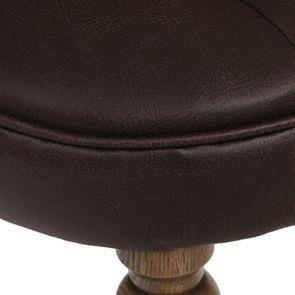 Fauteuil crapaud en éco-cuir chocolat - Bastien - Visuel n°8