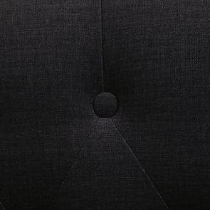 Fauteuil crapaud en hévéa noir et tissu gris anthracite - Bastien