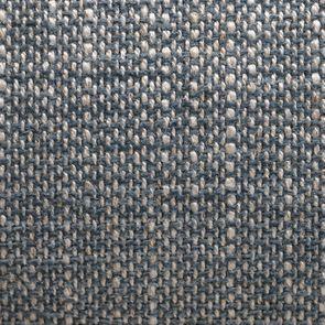 Fauteuil crapaud en hévéa noir et tissu bleu chambray - Bastien - Visuel n°7