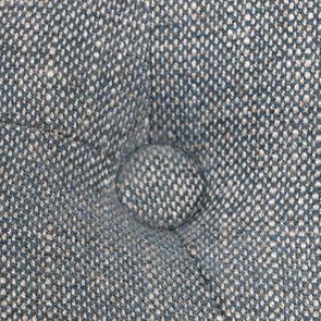 Fauteuil crapaud en hévéa noir et tissu bleu chambray - Bastien - Visuel n°10