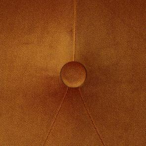 Fauteuil crapaud en tissu velours safran - Bastien - Visuel n°6