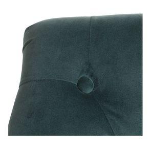 Fauteuil crapaud en hévéa noir et tissu velours vert bleuté - Bastien - Visuel n°7