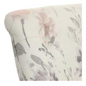 Fauteuil crapaud en tissu fleurs opaline - Bastien - Visuel n°8