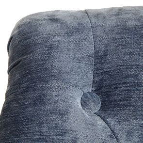 Fauteuil en frêne et tissu effet velours bleu - Bastien