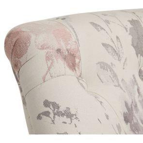 Fauteuil crapaud en hévéa blanc et tissu fleurs opaline - Bastien - Visuel n°8